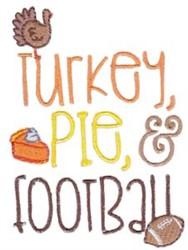 Turkey Pie Football embroidery design