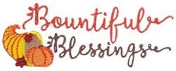 Bountiful Blessings embroidery design
