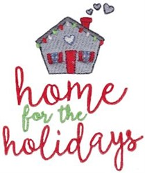 Home For The Holidays Christmas embroidery design