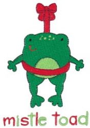 Mistle Toad embroidery design