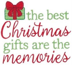 The Best Christmas Gifts embroidery design