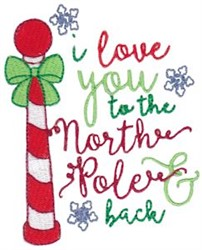 Christmas Sentiment embroidery design