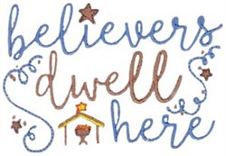 Believers Dwell Here embroidery design