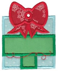 Christmas Gift Tag Applique embroidery design