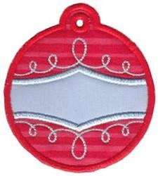 Christmas Tag Ornament Applique embroidery design