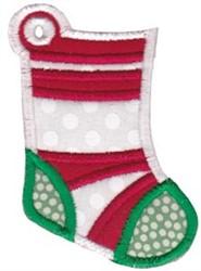 Christmas Tag Stocking Applique embroidery design
