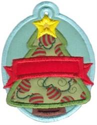 Christmas Tag Christmas Tree Applique embroidery design