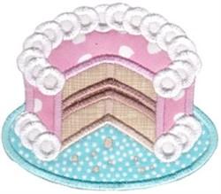 Cake Baking Applique embroidery design