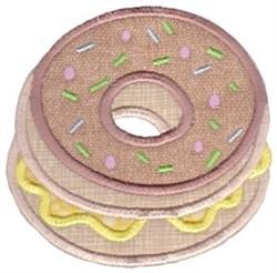 Doughnuts Baking Applique embroidery design