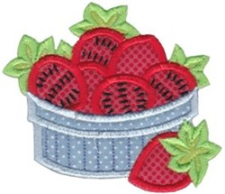 Strawberries Baking Applique embroidery design
