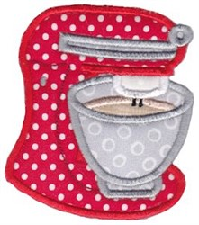Mixer Baking Applique embroidery design