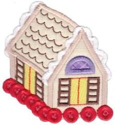 Gingerbread House Baking Applique embroidery design