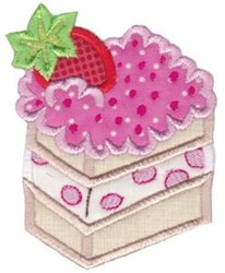 Slice of Cake Baking Applique embroidery design