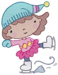 Skating Winter Cutie embroidery design