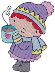 Hot Coco Winter Cutie embroidery design