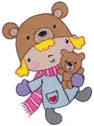 Teddy and Winter Cutie embroidery design