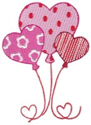 Key To My Heart Balloons embroidery design