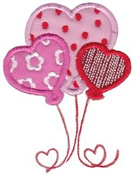 Key To My Heart Balloons Applique embroidery design