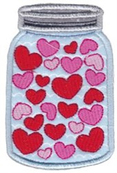 Key To My Heart  Jar Applique embroidery design