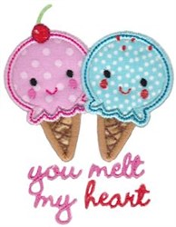 You Melt My Heart Applique embroidery design