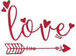 Key To My Heart Love Arrow embroidery design