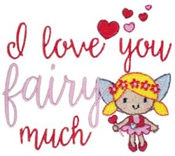 Key To My Heart Fairy embroidery design