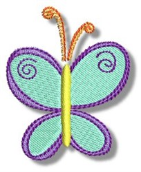 Butterfly Doodad Doodle embroidery design