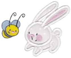 Snuggle Bunny And Bee Applique embroidery design