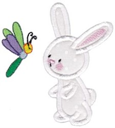 Snuggle Bunny Dragonfly Applique embroidery design