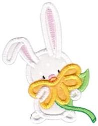 Snuggle Bunny Flower Applique embroidery design