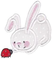 Snuggle Bunny Ladybug Applique embroidery design