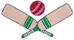 Cricket embroidery design