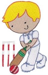 Cricket Boy embroidery design