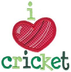 Love Cricket embroidery design