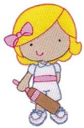 Cricket Girl embroidery design