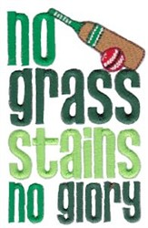 No Grass Stains embroidery design