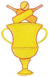 Cricket Trophy embroidery design