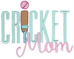 Cricket Mom embroidery design