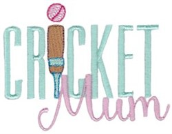 Cricket Mum embroidery design