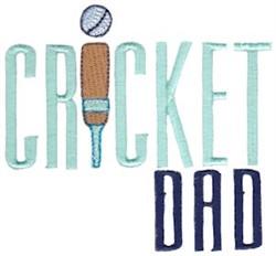 Cricket Dad embroidery design