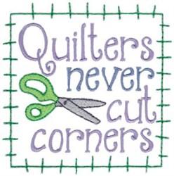 Cut Corners embroidery design