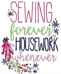 Sewing Forever embroidery design