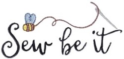 Sew Be It embroidery design
