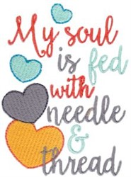 Soul Is Fed embroidery design