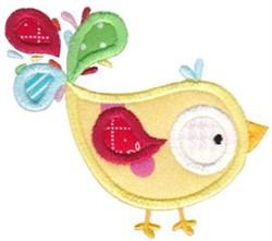 Applique Fowl embroidery design
