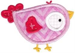 Applique Birdie embroidery design