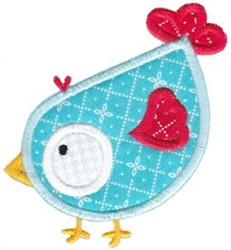 Applique Blue Bird embroidery design