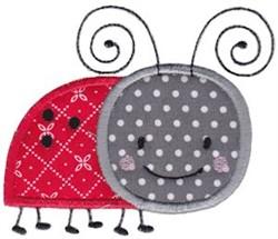 Applique Ladybug embroidery design
