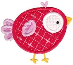 Applique Red Bird embroidery design