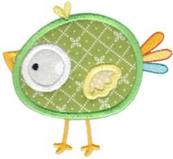 Applique Green Bird embroidery design